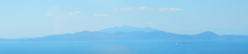 Isola d'Elba vista dall'aereo